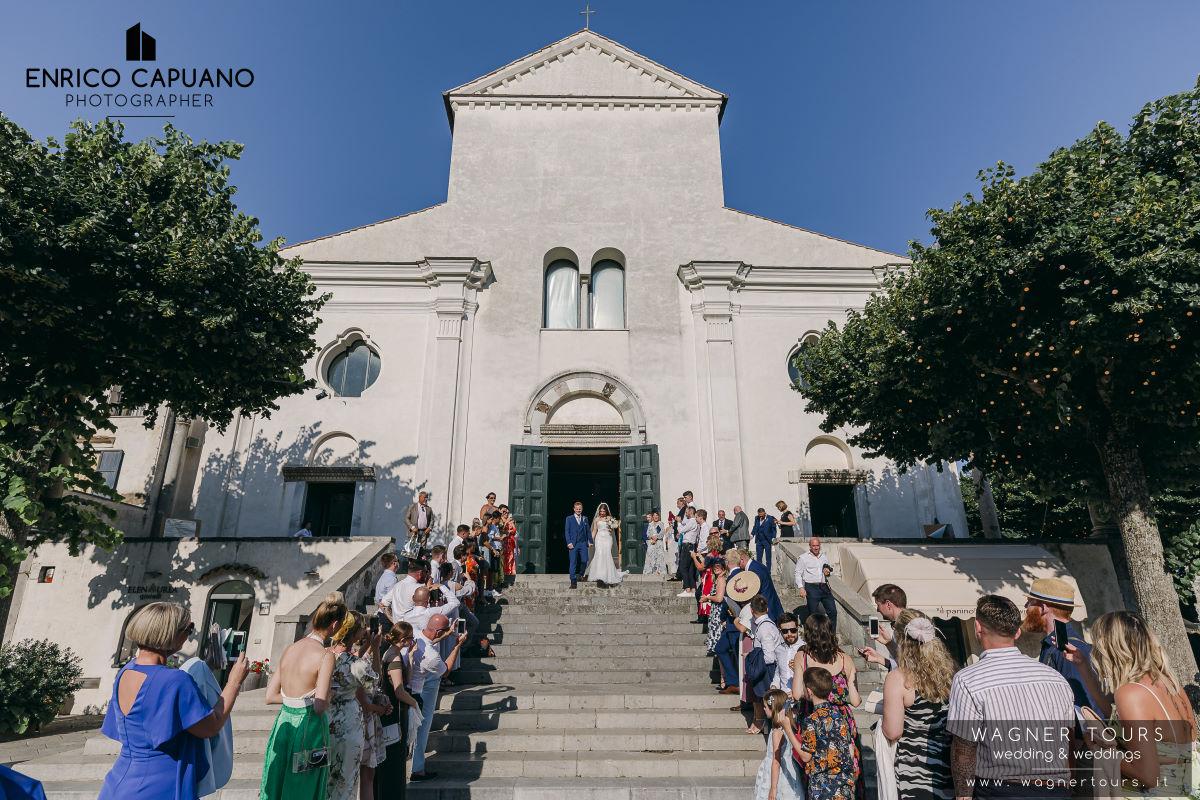 Catholic Wedding Ravello Amalfi Coast Italy Image