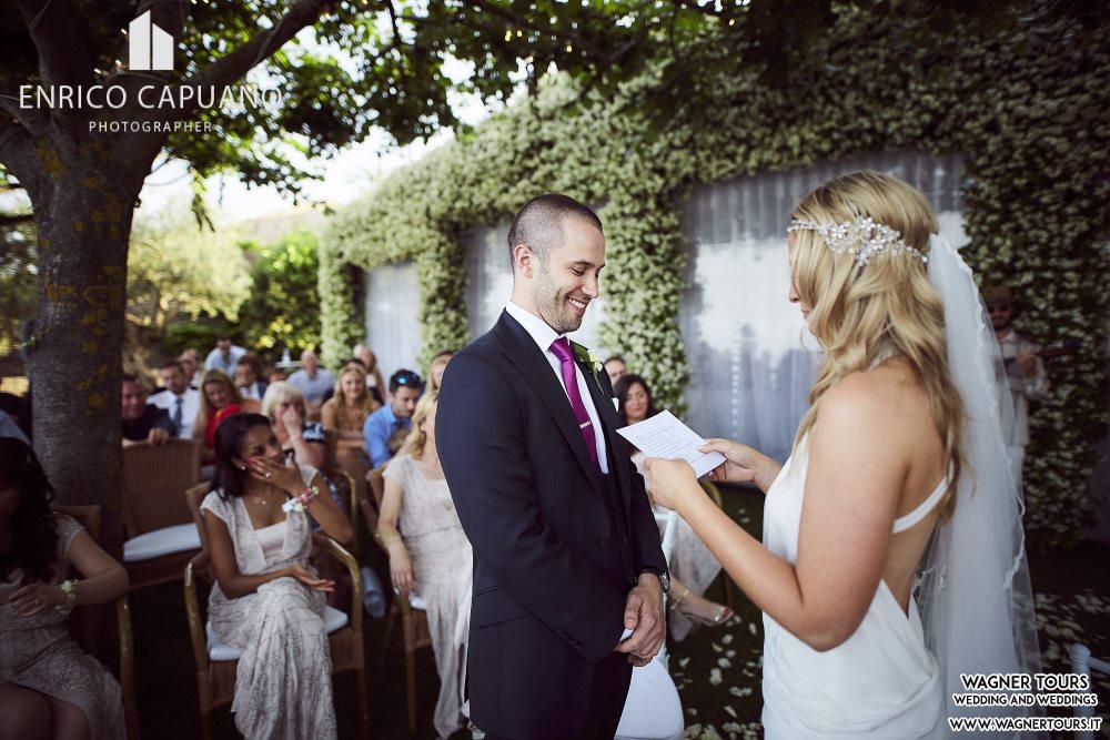 Symbolic Wedding Ravello Amalfi Coast Italy Blessing